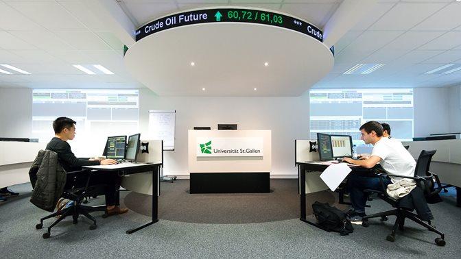 Trading Room der Universität St.Gallen